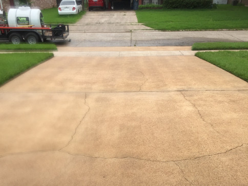 Driveway Pressure Washing - After